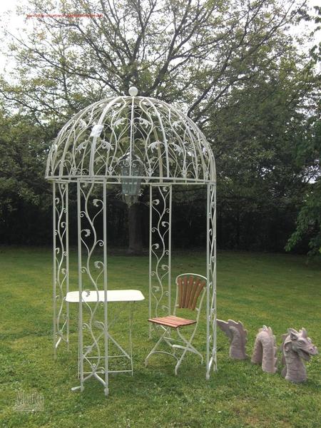 pavillon metall creme mauro gartenleben. Black Bedroom Furniture Sets. Home Design Ideas