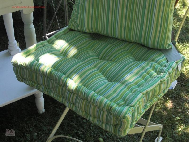 Sitzmatratzen  Sitzmatratze LIME - grün gestreift - 40x40 cm - MauRo GartenLeben