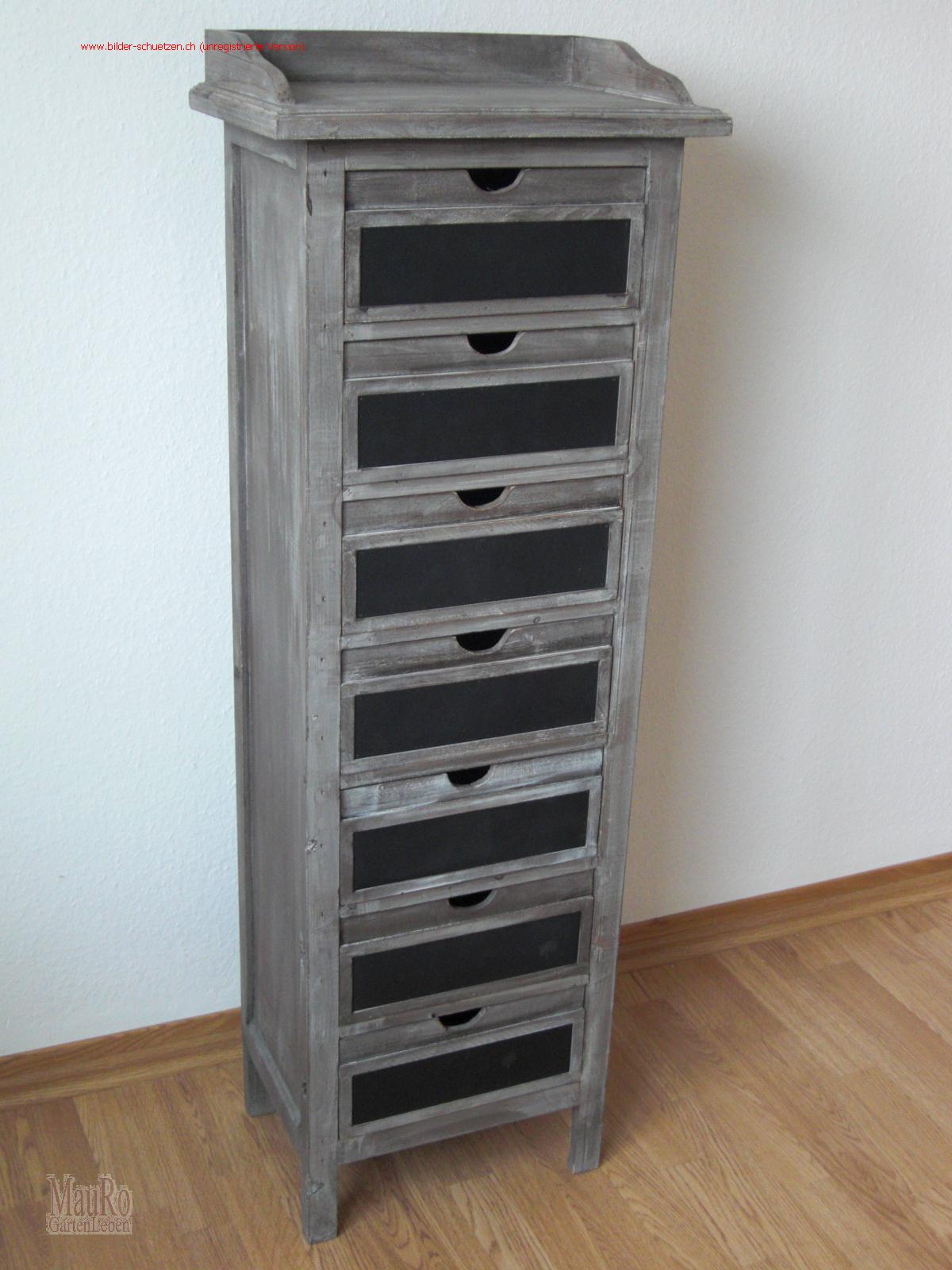 Kommode Holz Mit 7 Schubladen Mauro Gartenleben