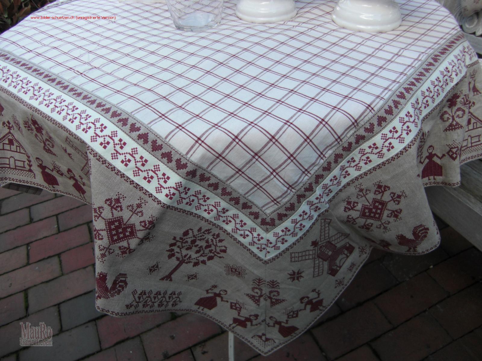 tischdecke broderie de la campagne 100 100 cm mauro gartenleben. Black Bedroom Furniture Sets. Home Design Ideas